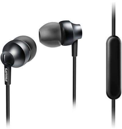 Гарнитура Philips SHE3855 серебристый серый awei q5i in ear earphones with mic gold