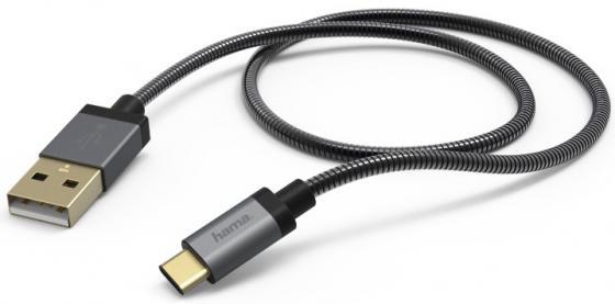 Кабель USB Type-C-USB 2.0 Hama черный 1.5м 00173636