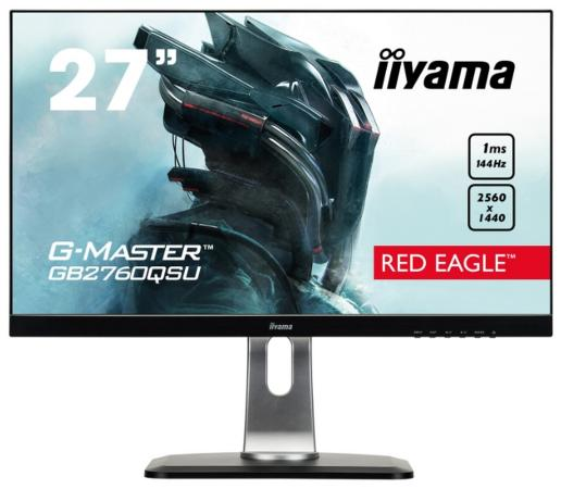 "Монитор 27"" iiYama GB2760QSU-B1 черный TN 2560x1440 350 cd/m^2 1 ms DVI HDMI DisplayPort Аудио USB все цены"