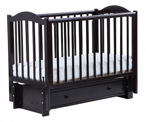 Кроватка с маятником Кубаночка-2 БИ 38.3 (венге)