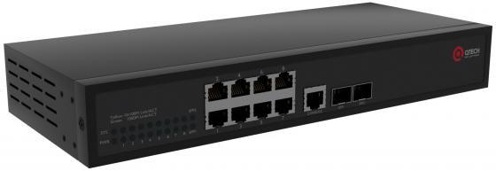 Коммутатор Qtech QSW-3410-10T-POE-AC управляемый 8 портов 10/100/1000Mbps 2xSFP