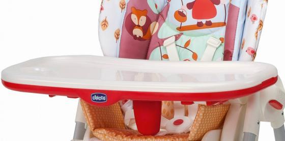 Столик к стульчику c разделителем Chicco Polly (красный) высокий стул для кормления chicco polly happy land