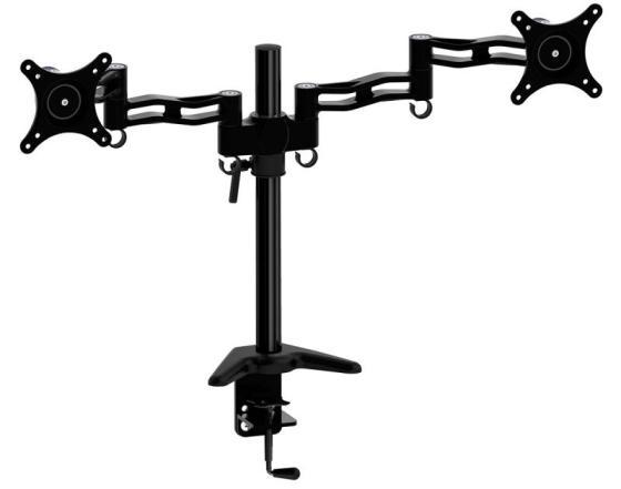 Купить Кронштейн для мониторов Cactus CS-VM-D08-BK черный 13 -27 настольный поворот и наклон до 8кг