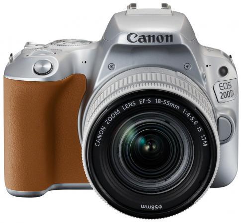 Зеркальная фотокамера Canon EOS 200D EF-S 18-55mm 24Mp серебристый 2256C001 meikon 40m waterproof underwater housing case for canon eos m 18 55mm