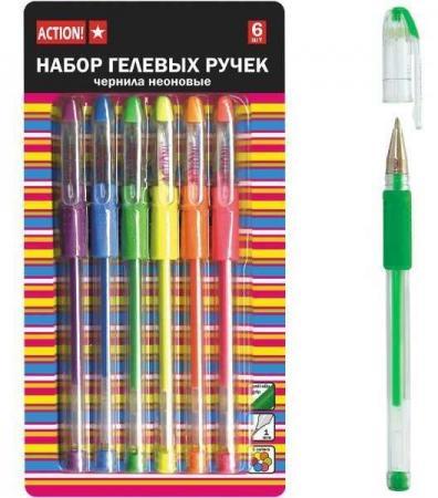 Набор гелевых ручек Action! AGP209/6 6 шт разноцветный