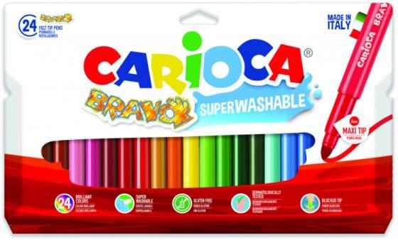 Набор фломастеров CARIOCA Bravo 42763 24 шт разноцветный carioca набор смываемых восковых карандашей baby 8 цветов