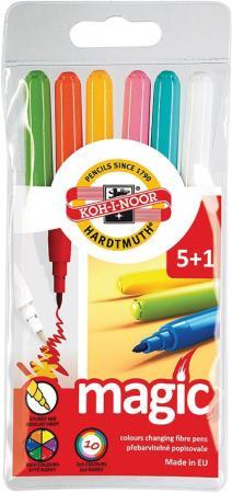 Набор фломастеров Koh-i-Noor 771612/5 TE 6 шт разноцветный набор фломастеров koh i noor домашние животные 2 мм 24 шт разноцветный 1002 24 te 1002 24 te