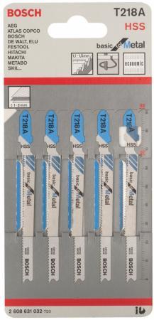 Лобзиковая пилка Bosch T 218 А HSS 5шт 2608631032