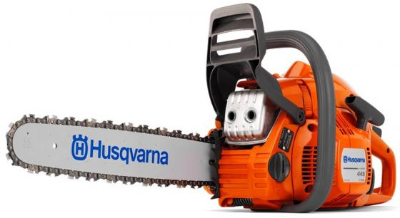Бензопила Husqvarna 445Ell-15 X-cut 2100Вт 9671566-75/9671566-35 бензорез husqvarna k 760 cut n break 9671957 01