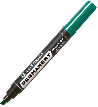 Маркер перманентный Centropen 8516/З 2 мм зеленый маркер флуоресцентный centropen 8722 1о оранжевый 8722 1о