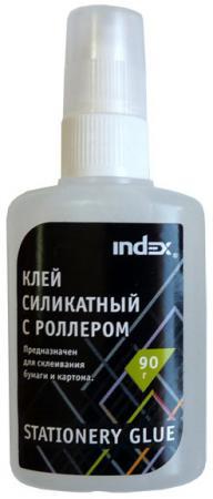 Клей силикатный Index ISGR90 90 гр. с роллером канцелярия index клей силикатный 40 мл аппликатор
