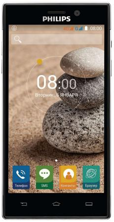 Смартфон Philips Xenium V787+ черный 5 32 Гб LTE Wi-Fi GPS 3G смартфон alcatel idol 5 6058d черный 5 2 16 гб lte gps wi fi 3g 6058d 2aalru7