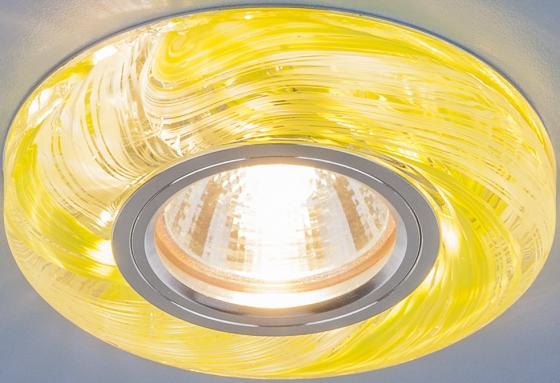 Фото - Встраиваемый светильник Elektrostandard 2191 MR16 CL/GR прозрачный/зеленый 4690389096136 cветильник галогенный de fran встраиваемый 1х50вт mr16 ip20 зел античное золото