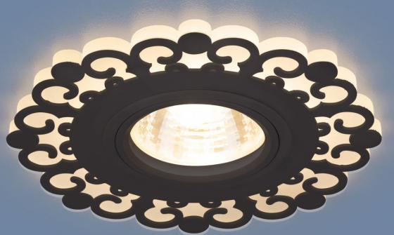 Фото - Встраиваемый светильник Elektrostandard 2196 MR16 BK черный 4690389101007 cветильник галогенный de fran встраиваемый 1х50вт mr16 ip20 зел античное золото