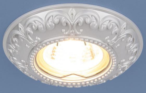 Фото - Встраиваемый светильник Elektrostandard 7009 MR16 WH белый 4690389098000 cветильник галогенный de fran встраиваемый 1х50вт mr16 ip20 зел античное золото