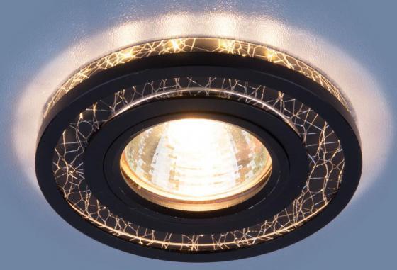 Фото - Встраиваемый светильник Elektrostandard 7020 MR16 BK/SL черный/серебро 4690389099311 cветильник галогенный de fran встраиваемый 1х50вт mr16 ip20 зел античное золото