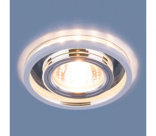 Встраиваемый светильник Elektrostandard 7021 MR16 SL/WH зеркальный/белый 4690389099342