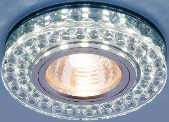 Встраиваемый светильник Elektrostandard 8381 MR16 CL/SBK прозрачный/дымчатый 4690389098321 elektrostandard встраиваемый потолочный светильник со светодиодной подсветкой elektrostandard 2170 mr16 sbk cl дымчатый прозрачный 4690389074073