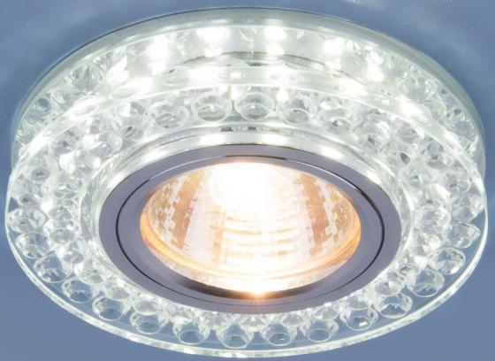 Фото - Встраиваемый светильник Elektrostandard 8381 MR16 CL/SL прозрачный/серебро 4690389098345 cветильник галогенный de fran встраиваемый 1х50вт mr16 ip20 зел античное золото
