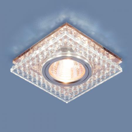 Фото - Встраиваемый светильник Elektrostandard 8391 MR16 CL/GC прозрачный/тонированный 4690389098352 cветильник галогенный de fran встраиваемый 1х50вт mr16 ip20 зел античное золото