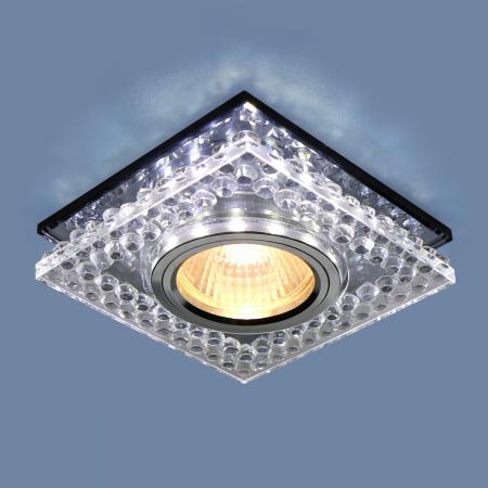 Фото - Встраиваемый светильник Elektrostandard 8391 MR16 CL/SВK прозрачный/дымчатый 4690389098383 cветильник галогенный de fran встраиваемый 1х50вт mr16 ip20 зел античное золото
