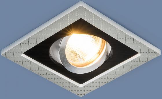 Фото - Встраиваемый светильник Elektrostandard 1041/1 MR16 SL/BK серебро/черный 4690389095429 cветильник галогенный de fran встраиваемый 1х50вт mr16 ip20 зел античное золото