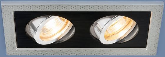Фото - Встраиваемый светильник Elektrostandard 1041/2 MR16 SL/BK серебро/черный 4690389095443 cветильник галогенный de fran встраиваемый 1х50вт mr16 ip20 зел античное золото
