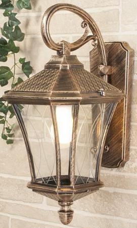 Уличный настенный светильник Elektrostandard Virgo D черное золото 4690389064845 elektrostandard лампа светодиодная elektrostandard свеча на ветру сdw led d 6w 3300k e14 4690389085505
