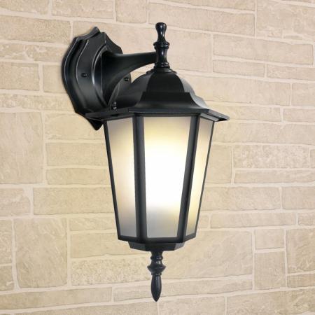 Уличный настеный светильник Elektrostandard 1004D черный 4690389085697 elektrostandard лампа светодиодная elektrostandard свеча на ветру сdw led d 6w 3300k e14 4690389085505