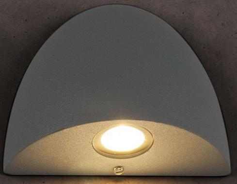 Уличный настенный светодиодный светильник Elektrostandard 1610 Techno LED Rongo серый 4690389086083 elektrostandard лампа светодиодная elektrostandard свеча на ветру сdw led d 6w 3300k e14 4690389085505
