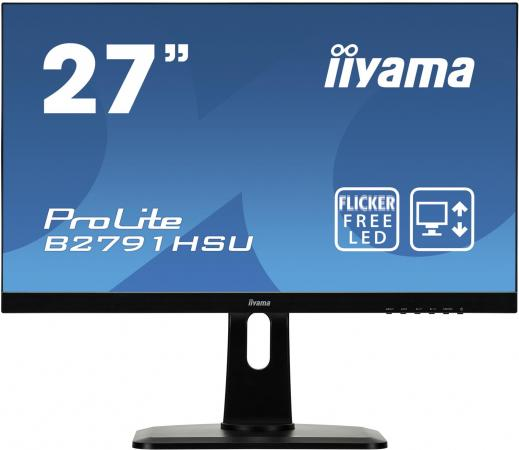 Монитор 27 iiYama B2791HSU-B1 черный TN 1920x1080 300 cd/m^2 1 ms VGA HDMI DisplayPort Аудио USB монитор 27 iiyama prolite b2791hsu b1 tn led 1920х1080 1ms dvi hdmi displayport