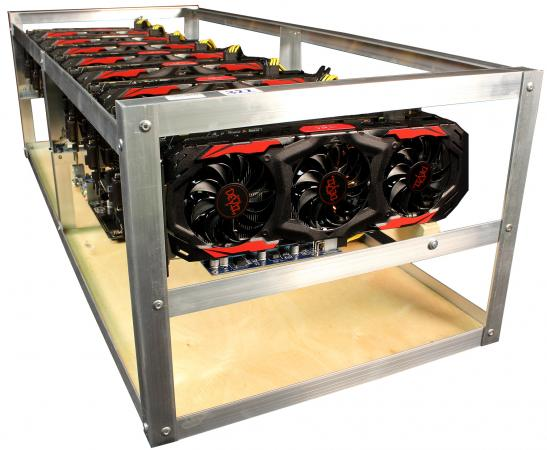Персональный компьютер / ферма 8192Mb GeForce GTX 1080 x8 / Intel Celeron G3900 2.8GHz / ASRock H110 Pro BTC+/ DDR4 4Gb PC4-17000 2133MHz / SSD 120Gb / Блок питания dps-2000W (№307/308/309)