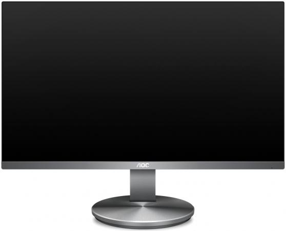 Монитор 24 AOC I2490VXQ/BT(00/01) cерый IPS 1920x1080 250 cd/m^2 4 ms HDMI DisplayPort VGA Аудио монитор 27 aoc i2781fh 01 черный ah ips 1920x1080 250 cd m^2 4 ms hdmi vga аудио