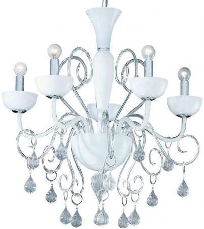 Подвесная люстра Ideal Lux Lilly SP5 Bianco ideal lux люстра ideal lux lilly sp5 bianco