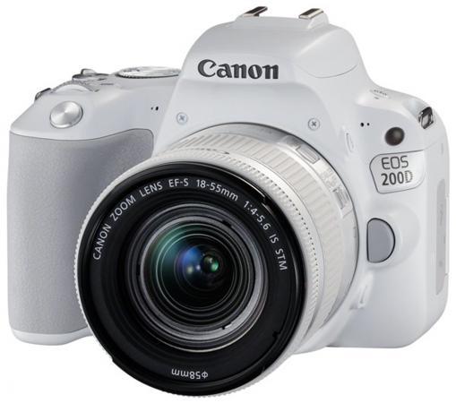 Зеркальная фотокамера Canon EOS 200D EF-S 18-55mm 24Mp белый 2253C001 все цены