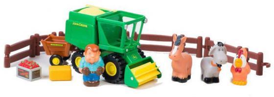 Комбайн Tomy «Моя первая ферма» Уборка урожая ТО43069 разноцветный игровой набор tomy приключения трактора джонни и его друзей на ферме лошадь