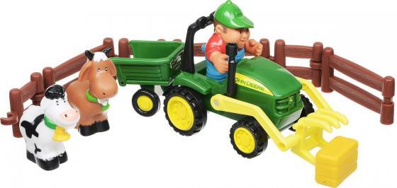 Трактор-погрузчик Tomy «Моя первая ферма» Набор с погрузчиком 43068 разноцветный игровые наборы tomy игровой набор приключения трактора джонни и лошади на ферме