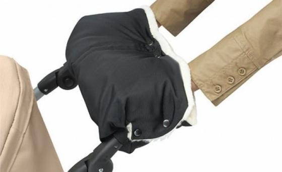 Муфта для коляски из из стриженой овчины Bozz (черный\\натуральный/20-2017) конверт детский bozz конверт из стриженной овчины черный серый