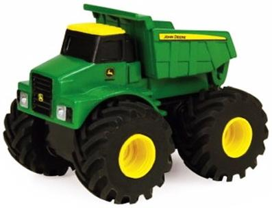 Самосвал Tomy Monster Treads 7.5 см разноцветный машинки tomy трактор john deere monster treads с большими резиновыми колесами tomy
