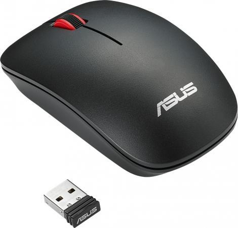 Мышь беспроводная ASUS WT300 RF чёрный USB + радиоканал мышь беспроводная jet a om u50g чёрный usb радиоканал