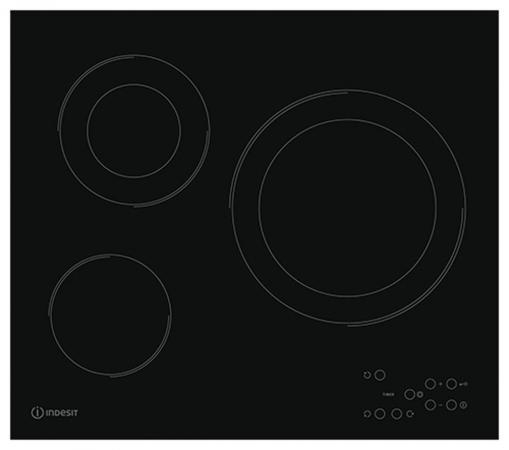 все цены на Варочная панель электрическая Indesit RI 360 C черный онлайн