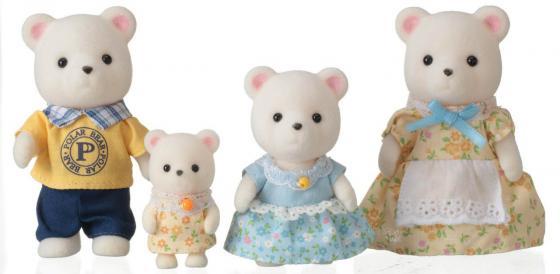 Игровой набор SYLVANIAN FAMILIES Семья белых медведей 4 предмета игровая фигурка sylvanian families набор семья белых мышей