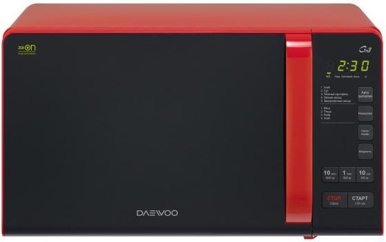 Микроволновая печь DAEWOO KQG-663R 700 Вт чёрно-красный микроволновая печь daewoo electronics kqg 663d