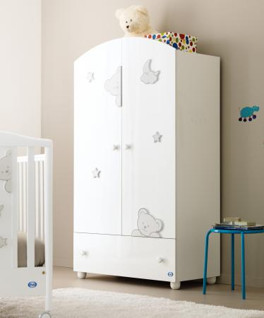 Шкаф двухстворчатый Pali Georgia (глянцевый белый)
