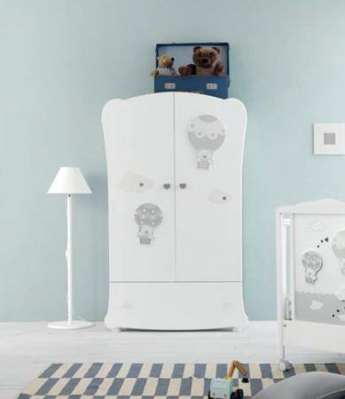 Шкаф двухстворчатый Pali Bonnie (белый)