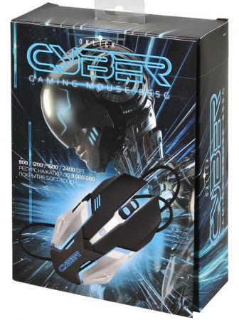 лучшая цена Мышь проводная Oklick 855G Cyber чёрный серебристый USB