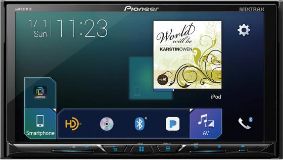 Автомагнитола Pioneer AVH-Z5000BT USB MP3 CD DVD FM 2DIN 4x50Вт черный fm тюнер pioneer f f6mk2