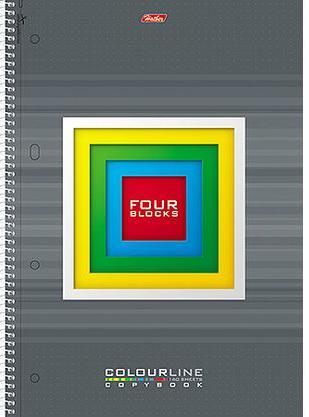 Тетрадь общая Хатбер FOUR BLOCKS 160 листов клетка спираль