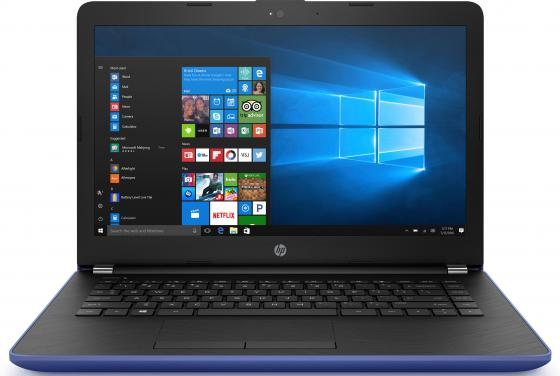 Ноутбук HP 14-bs014ur 14 1366x768 Intel Pentium-N3710 500 Gb 4Gb Intel HD Graphics 405 синий Windows 10 Home 1ZJ59EA ноутбук hp 15 bs509ur 15 6 1920x1080 intel pentium n3710 2fq64ea