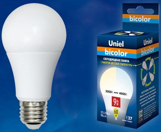 Лампа светодиодная (UL-00001569) E27 9W 4000K шар матовый LED-A60-9W/WW+NW/E27/FR PLB01WH светодиодная лампа 9w led light 9w 1 yks